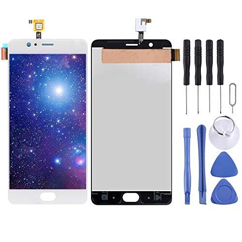 Dongdexiu Piezas de Repuesto del teléfono Celular Pantalla LCD y Conjunto Completo de digitalizador for Elephone P8 MAX (Color : Blanco)