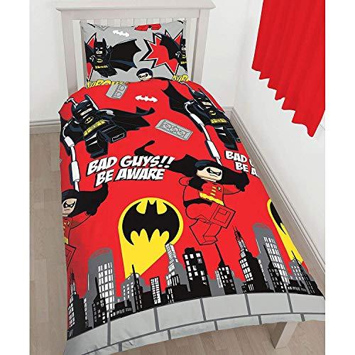Parure de lit LEGO DC Comics Batman housse de couette pour lit 1 personne + 1 taie