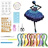 XAVSWRDE Kit de Filigrana con 900 Tiras de Papel de Colores y 10 Herramientas, Filigranas de Papel 3D para Diseños Decorativos Tarjetería Scrapbooking Manualidades Decoración Pared para Principiantes