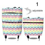 MINGTIAN 2 In 1 Portable Foldable Shopping Cart Multifunction Telescopic Storage Bag with Wheel
