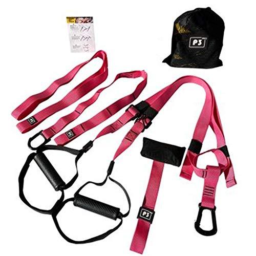 XKMY GEquipment - Bandas de resistencia para hombre y mujer, correas de entrenamiento para colgar en el gimnasio, entrenamiento de suspensión, cuerda ajustable, equipo deportivo (color: P3 3rosa)