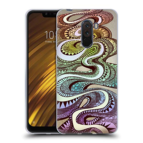 Head Case Designs Offizielle Brenda Erickson Candy Man Kissen Künste Soft Gel Huelle kompatibel mit Xiaomi Pocophone F1 / Poco F1