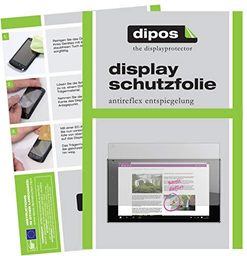 dipos I 2X Schutzfolie matt kompatibel mit Odys Winpad X9 22,6 cm (8,9 Zoll) Folie Bildschirmschutzfolie