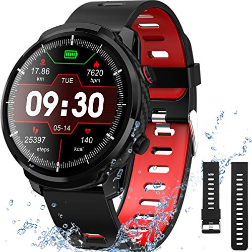 Smart Watch for Android iOS Phones, IP68 Waterproof Smart Watch, Fitness Tracker Smartwatch with Blood Pressure Heart Rate and Sleep Monitor, Smartwatch Compatible iPhone Android Phone for Men Women.