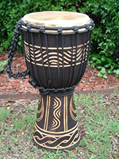 "16"" Tall X 8"" Head Djembe Bongo Drum, Moon & Star Designs. Model # 40m3"