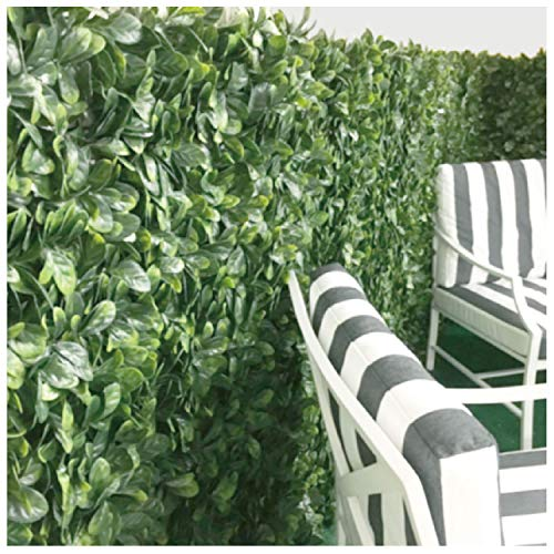 ECOOPTS EcooptsArtificial Buxus Leaf Faux Ivy Expandable/Stretchable Privacy Fence Screen, Single Side Ficus Leafs and Vine Decoration for Outdoor, Garden, Yard 1 Pack