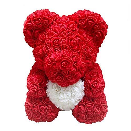 PE Schaum Simulierte Rose Bär Puppe,Puppendekoration,Geschenk zum Valentinstag, Plüsch Teddy PE Schaum Simulierte Rose Bär Puppe Dekoration