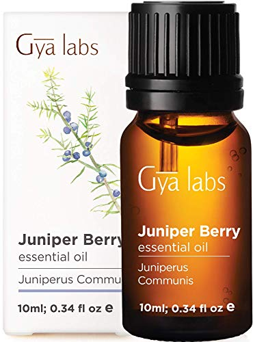 Gya Labs Juniper Berry Essential Oil - for Flawless Skin, Restful Sleep & Ache Free Days 10ml - 100% Pure Therapeutic Grade Juniper Oil Essential Oils for Aromatherapy Diffuser & Topical Use