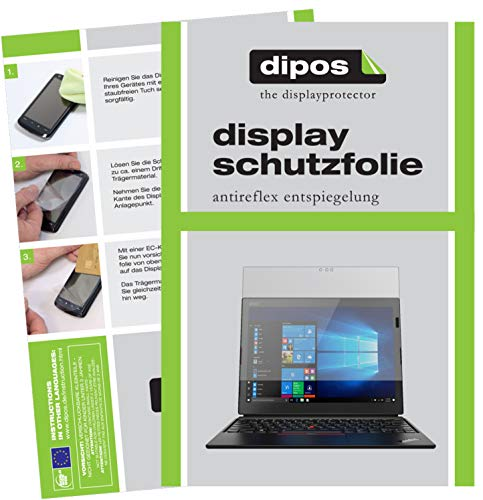 dipos I 2X Schutzfolie matt kompatibel mit Lenovo ThinkPad X1 Tablet 3. Gen. Folie Bildschirmschutzfolie