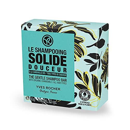 Yves Rocher GREEN HEROES Festes Shampoo Mild & Sanft, zarte Pflege für gesunde Haare und mehr Glanz, 60 g