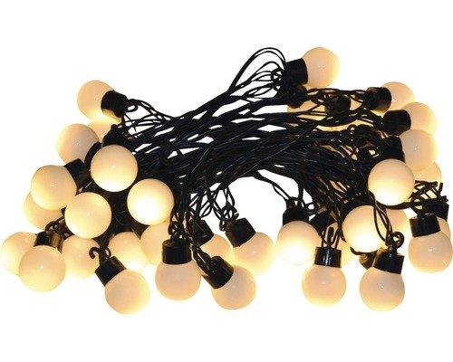 2 Stück - Globo LED Lichterkette - 20er - warmweiß - schwarzes Kabel - 6-Stunden-Timer - Beleuchtungsstrecke: 90 cm - Einsatzbereich: Innen - Batteriebetrieb (3xAA)