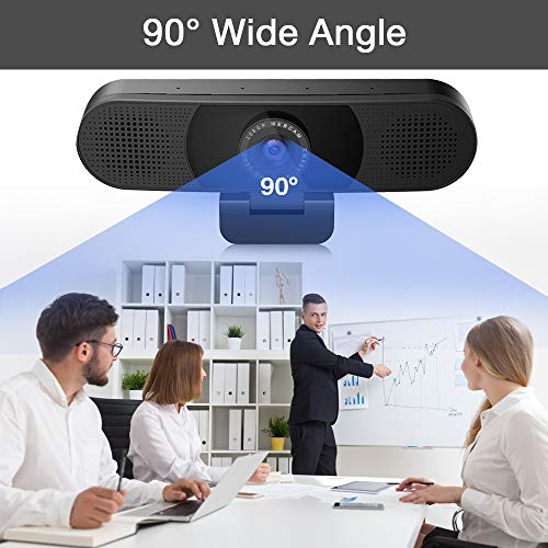 3 in 1 Webcam - eMeet C980 Pro Webcam 1080P, 2 Speakers