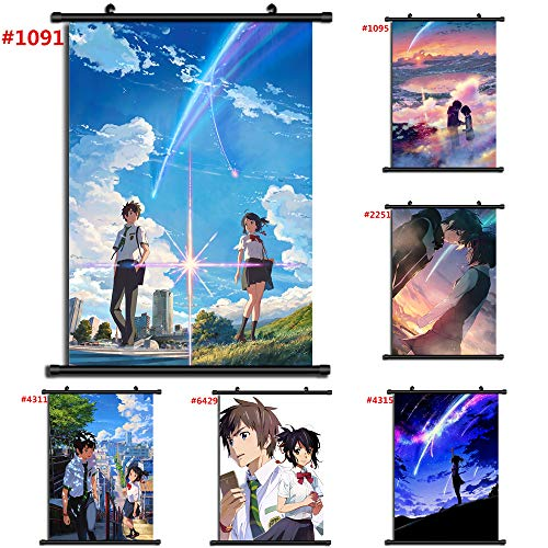 Por Anime Kimi No Na Wa Manga Póster De Pared Sala De Desplazamiento Decoración Del Hogar Arte De La Pared (#1093,40x60cm/16x24inches)