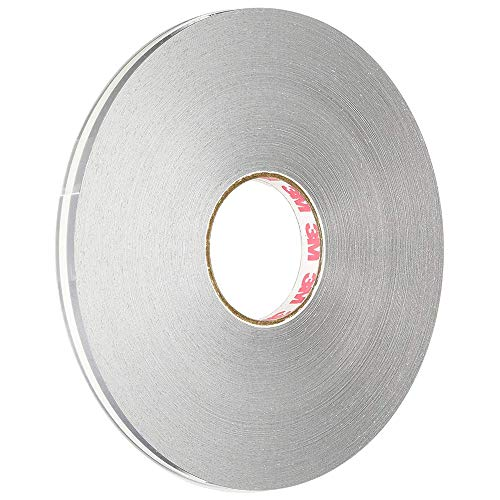 3M Scotchcal 72305 Vinyl Film Coated Double Striping Tape, 150' Length x 5/16' Width, Silver Metallic
