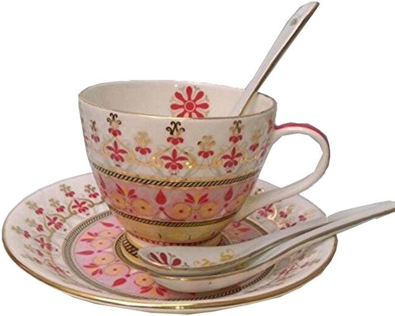 PCC Home Decor Table de service Tasses à thé Tasses à café Lot de 6tasses et soucoupes