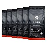 Marca Amazon - Happy Belly Select Café molido de tueste natural de Brasil, 6 x 227gr