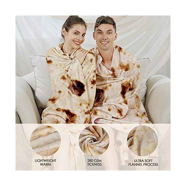 Admitrack Tortilla Wrap Blanketburritos Round Wrap Blankettortilla Throw Blanketfunny Realistic Food Round Blanketnovelty Burritos Throw Blanket For Adultskids