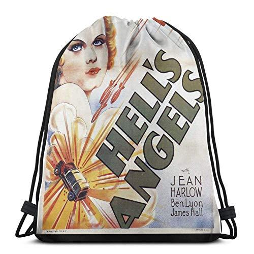 Hell 'S Angels Poster Sport Sackpack mochila con cordón de sujeción bolsa de deporte