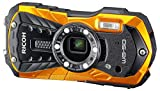 Ricoh WG-50 - Cámara Sumergible (Sensor retroiluminado de 16 MP, Objetivo Gran Angular, vídeo Full HD) Color Naranja