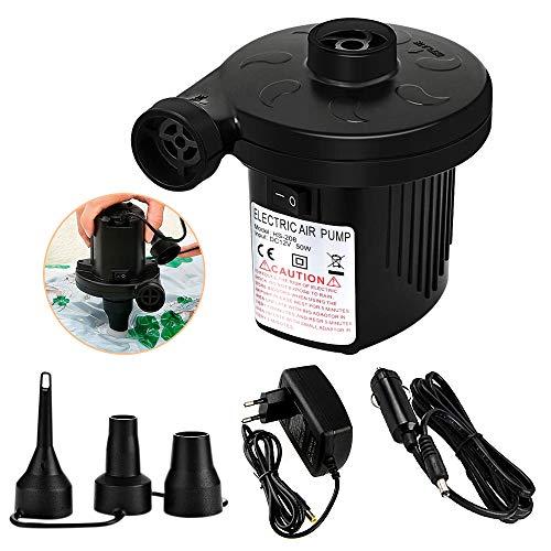 Elektrische Luftpumpe , omitium 2 in 1 Elektropumpe Inflate und Deflate Power Pump mit 3 Luftdüse Elektrische Pumpe Auto Elektropumpe für Home Camping Aufblasbare Matratze Bett Schwimmring AC110V-240V