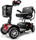BUZZAROUND EX Extreme 4-Wheel Heavy Duty Long Range Travel Scooter, Red, 18-Inch Seat (Health and Beauty)