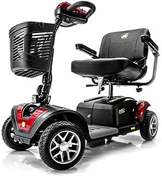 BUZZAROUND EX Extreme 4-Wheel Heavy Duty Long Range Travel Scooter Red 18-Inch Seat