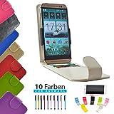4 in 1 set ikracase Slide Flip Hülle für HiSense HS-U972 Smartphone Tasche Case Cover Schutzhülle Smartphone Etui in Weiß