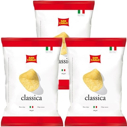 3x San Carlo Chips 'Classica', 180 g