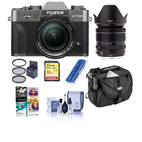 Great Price! Fujifilm X-T30 Mirrorless Camera with XF 18-55mm f/2.8-4 R LM OIS Lens Charcoal Silver ...