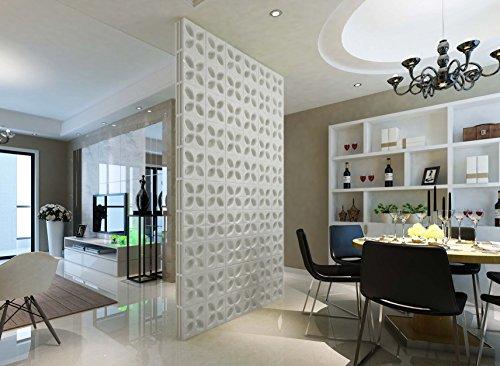 Fuchs Design 5 Stück Style'n Art Deko Idee Daisy Weiß 24x24x8 cm