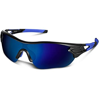 Polarized Sports Sunglasses for Men Women Youth Baseball Cycling Running Driving Fishing Golf Motorcycle TAC Glasses UV400
