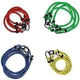 Omenluck - 12 Cuerdas elásticas de Goma elásticas de Diferentes Longitudes de Colores
