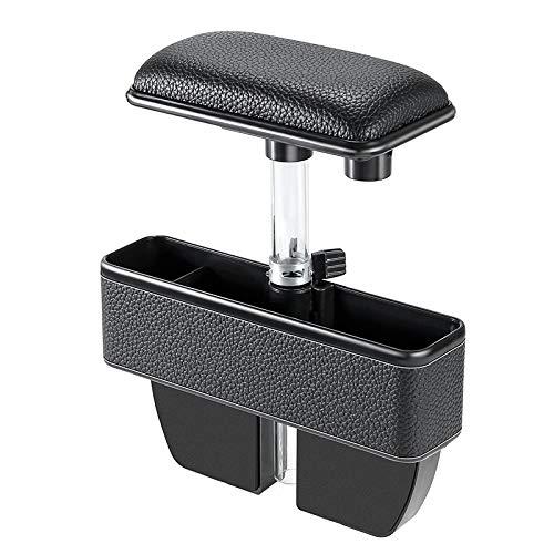 Auto organizer boot Universele Auto Multifunctionele Console Zijvak Seat Gap Side Storage Box Elbow Support Pad, Geschikt voor de meeste auto's Zwart