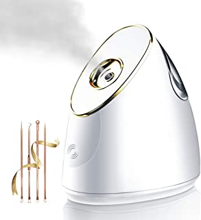 Beautypical Nano Ionic Facial Steamer Warm Mist Professional Ozone Home Facial Sauna Spa for Face Moisturizing Cleaner, Pores Cleanse Clear Blackheads Acne Impurities Skin Cares
