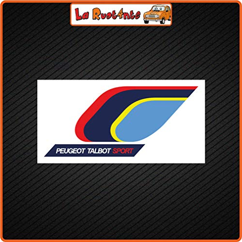 La Ruotante 2 stickers Peugeot Talbot Sport (Vinile) auto motorfiets Vespa fietshelm 26x13 Cm
