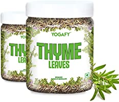 YOGAFY- Organic Thyme Leaves I Herbal Tea Leaves for Cough and Cold |100 Gram - 50 Cups |