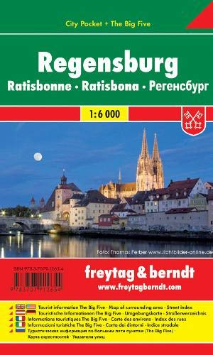 Regensburg, Stadtplan 1:6.000, City Pocket + The Big Five (freytag & berndt Stadtpläne)