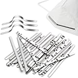 100 PCS Nose Bridge Strips, Aluminum Metal Nose Strip, Shed Protector, Adjustable Nose Clips Wire for DIY Face Making Accessories for Sewing Crafts