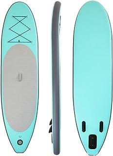 Fklee Tableros de paletas de pie inflables de pie flotantes Tabla de Surf Sup for Principiante 305x76x15cm Tabla de Surf (Color : Verde, tamaño : 305x76x15cm)