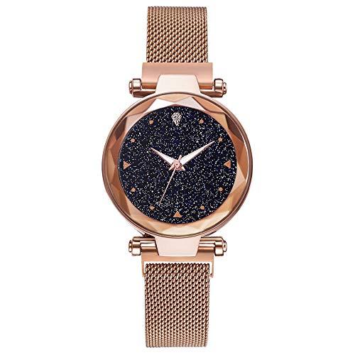 Powzz - Reloj inteligente con diseño de Star Net Red de reloj moderno y casual masculino y femenino