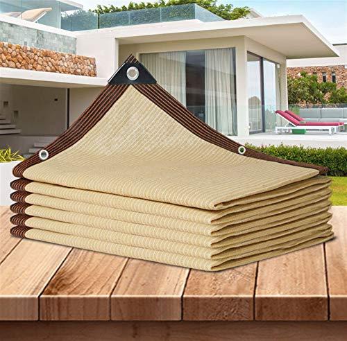 ZWYSL Malla Ocultacion,Toldo con Protección,Balcón Cifrado Y Engrosado, Protector Solar Al Aire Libre Personalizable (Color : Beige, Size : 1×2m)