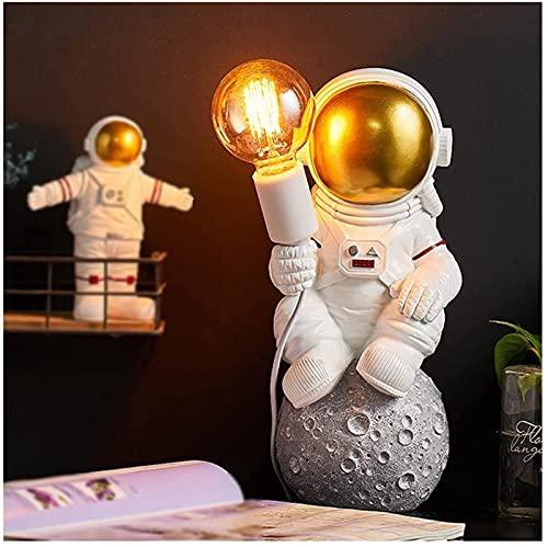 DZCGTP Lámpara de Pared para habitación de niños Apliques de Pared creativos de Astronauta Que se Ajustan a la Base de la Bombilla E27 con Enchufe y Cable de 150 cm Spaceman Art Decor Light