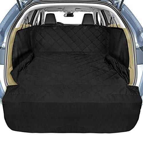 Veckle Cargo Liner, SUV Cargo Liner for Dogs with Side Flaps Hammock Waterproof Nonslip Dog Seat Cover Cargo Area Protector Scratchproof for SUVs Sedans Vans