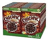 Cereales Nestlé Chocapic - Cereales de trigo y maíz tostados con chocolate - 12 paquetes x 500g