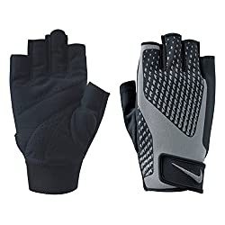 Material: 82 % polyester, 15 % nylon and 3 % TPE. Colour: Black, with red details and Nike logo. Dri-FIT material wicks away sweat, ensuring a dry and comfortable feeling. Adjustable Velcro strap for optimal fit. The extended tab on the middle finger...