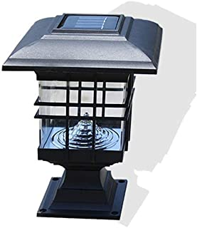 SEESEE.U Modern Outdoor Pillar Lamp Solar Garden Light Landscape Lawn Wall Lamp Simple Waterproof Garden Lamp European Fen...