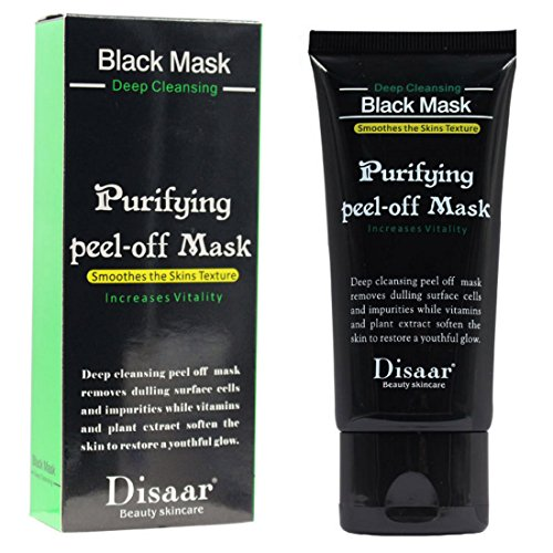 Disaar Blackhead Remover, Bamboo charcoal Black Purifying Peel-Off Face Mask, Deep cleansing for Face Nose 50ml