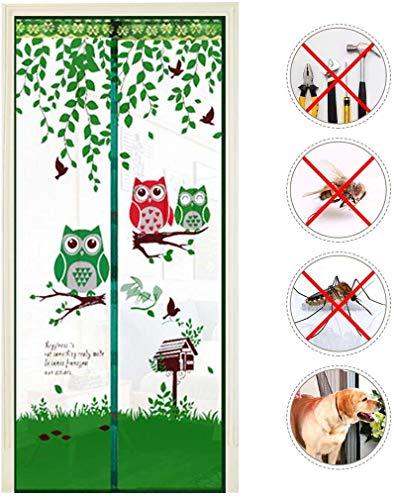 Out Mosquito Door Screen, handsfree Magnetische Anti-muggen Gordijnen Mosquito, magneten Deur Gordijn Voor Keukendeur Screens Zomer,Green,90 * 210cm