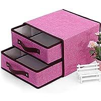 マルチレイヤータオル収納ボックスキッチン用品マネージャー化粧品収納ボックスタオルラックメイクアップテーブルデスクトップオーガナイザー,Pink