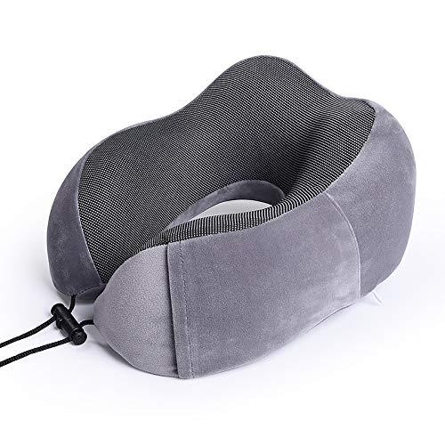 Almohada de viaje en U de algodón de memoria Almohada de cuello almohada de siesta